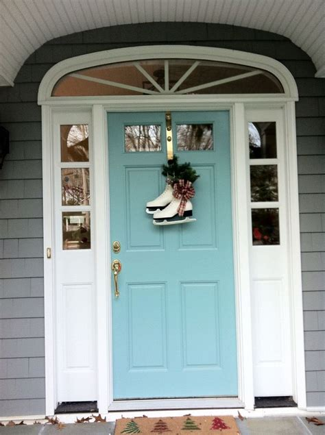 front door color sherwin williams drizzle turquoise aqua front doors coastal style front