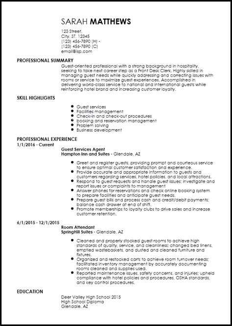 cv template for hospitality industry free entry level hotel hospitality resume templates