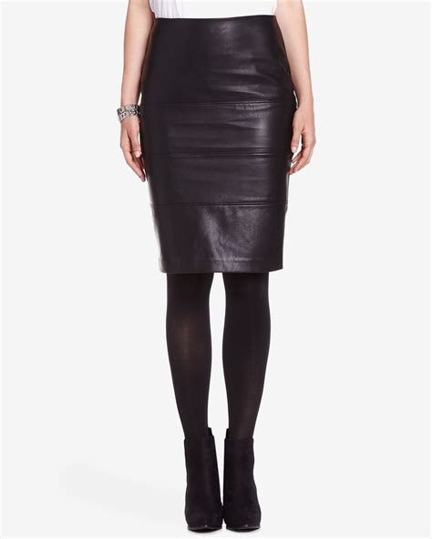 faux leather pencil skirt reitmans