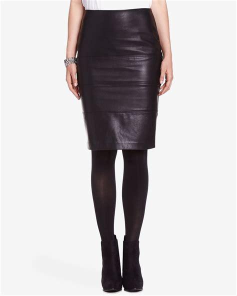 Faux Leather Pencil faux leather pencil skirt reitmans