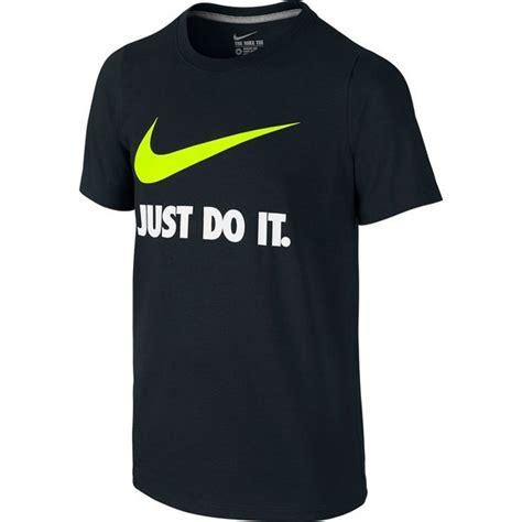 Tshirt Nike Swoosh R C nike t shirt just do it swoosh crew black white