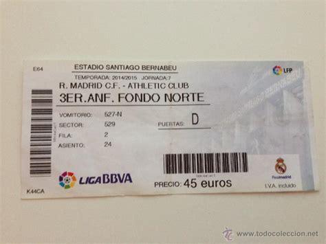 entradas del real madrid entrada ticket real madrid athletic bilbao temp comprar