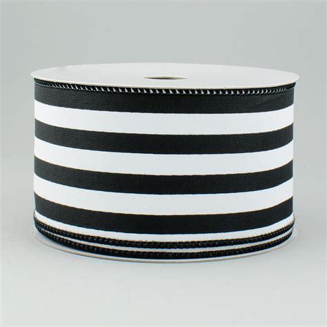 Bw Ribbon 2 5 quot vertical stripe satin ribbon black white 10 yards rg0132902 craftoutlet