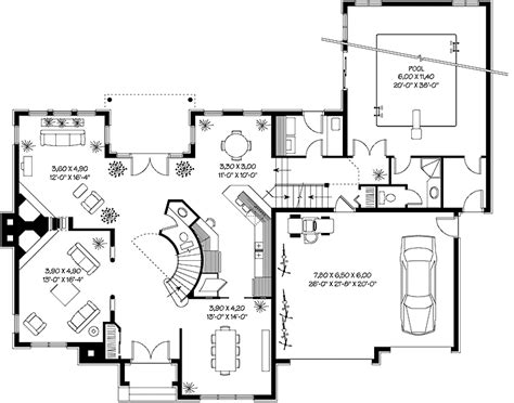 House Plans Home Plans Floor Plans And Home Building House Plans With Indooroutdoor Pool
