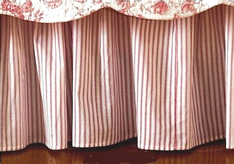 striped bed skirt brighton red ticking stripe bedskirt by williamsburg