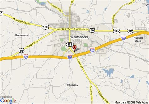 map weatherford texas map of la quinta suites weatherford weatherford