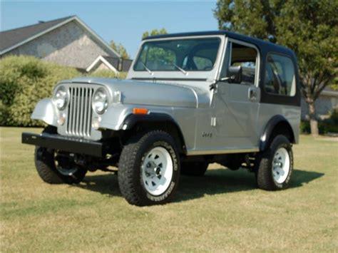 jeep cj 4 1982 jeep cj 4wd cj7 66 218 silver util 6 cylinder
