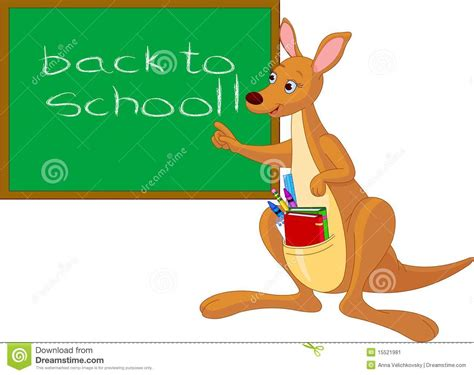 Standing Chalkboard by Cartoon Kangaroo Near Chalkboard Stock Image Image 15521981