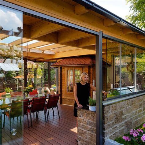 veranda ohne dach cabrio veranda 174 terrasse und wintergarten in einem