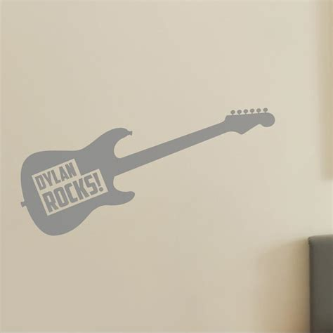 guitar wall stickers personalised guitar wall sticker for and childrens bedroom wall decal wallboss