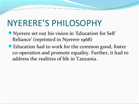 Julius Nyerere Ujamaa Essays On Socialism Pdf by Philosophy Of Education Nyerere