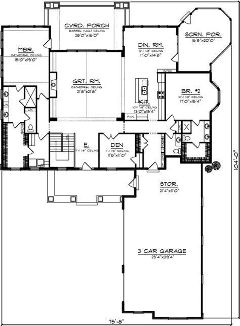 home plans with vaulted ceilings garage mud room 1500 sq ft bungalow style house plans plan 7 1177
