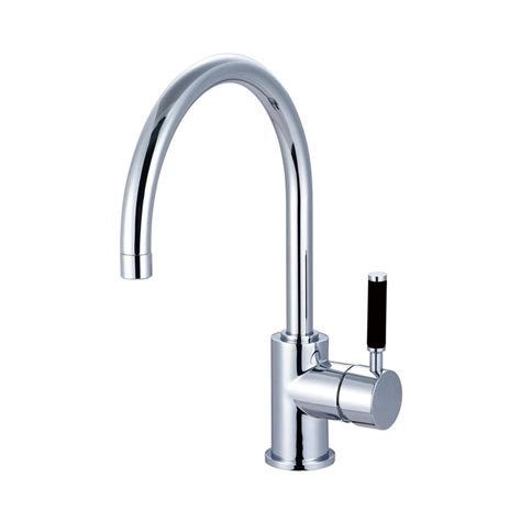 high arc kitchen faucet reviews shop elements of design kaiser polished chrome 1 handle