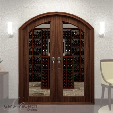 Arched Full Glass Double Wine Cellar Doors Arch Glass Door