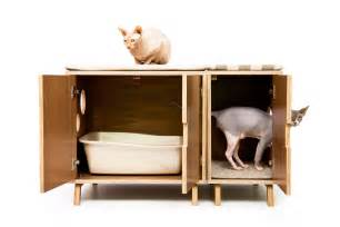 mid century modern cat litter box furniture large cat litter