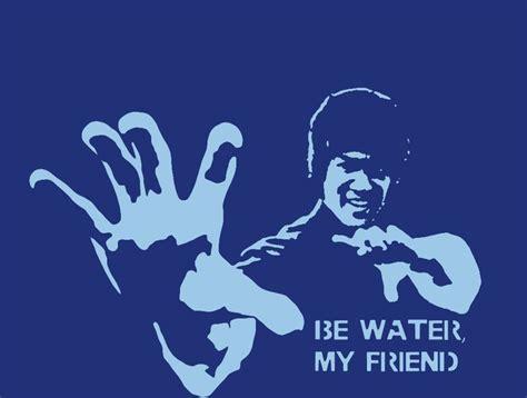 bruce lee  water  friend stencil template stencil