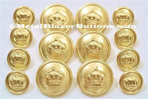 Set Breasted Blazer new premium metal gold crown 14pc breasted sport
