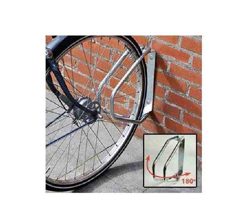 wall mounted mountable 180 folding cycle rack adjustable