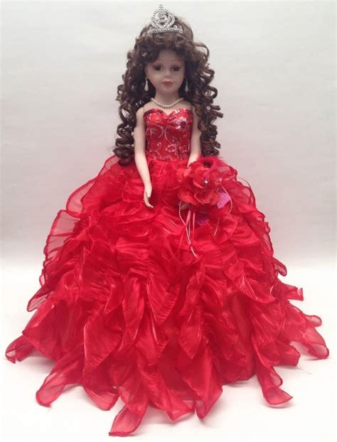 porcelain doll quince anos new 20 in 15 xv anos quinceanera ruffle dress