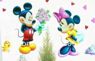 Mickey Mouse Wall Mural mickey y minnie mouse love imagui