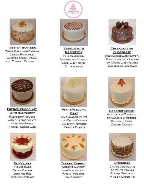 different cake flavors cake flavors