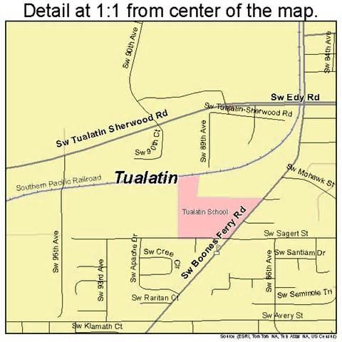 tualatin oregon map 4174950