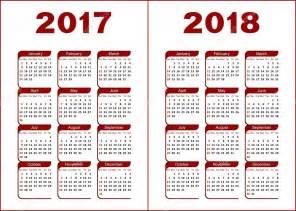Calendario De 2017 E 2018 Calend 225 2017 2018 Vetor De Stock 169 Silantiy 126234138