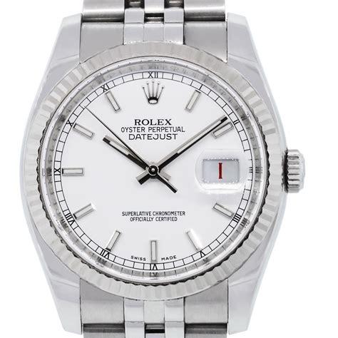 Rolex White rolex 16234 datejust white stainless steel