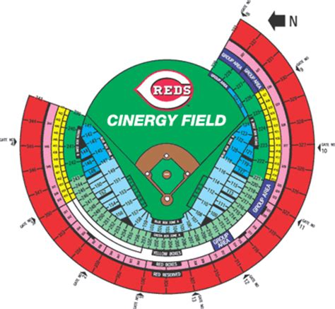 cincinnati reds seating chart with seat numbers gabp seating chart