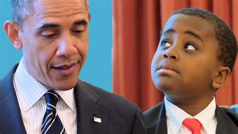 Hes The President In Residenthes Of In Cha by Kid President Meets The President Of The United States Of