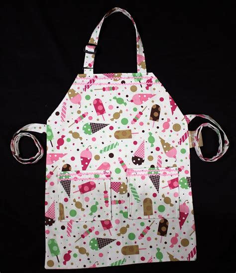 Apron Pattern With Adjustable Neck Strap | sweet tooth child apron adjustable neck strap and