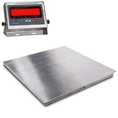 prime 5000 lb wireless floor scale prime scales ps ssf floor scale 48 x 48 inches stainless steel flip top 5000 x 1 lb