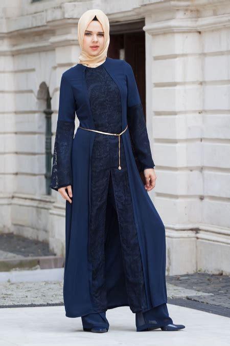 Set Family Abaya 99 neva style kolyeli saks mavisi tesett 252 r elbise 42080sx tesetturisland
