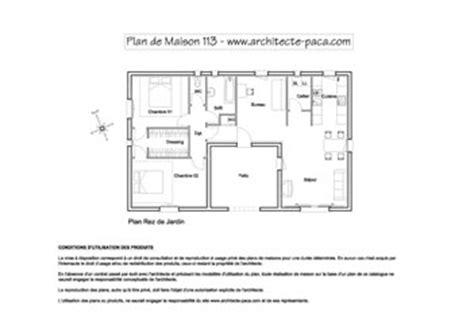 Echelle Plan Maison by Plan De Maison En U Type 4 177 98 M 178 D Architecte 113
