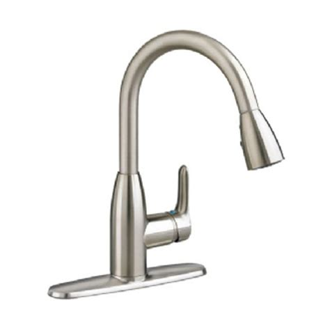 stainless steel faucets kitchen american standard colony soft single handle pull down