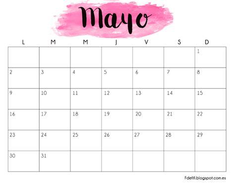 almanaque mes mayo 2016 calendario para descargar e imprimir mayo 2016 blog f