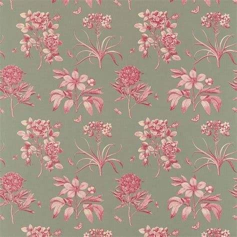 sanderson upholstery fabrics curtains in etchings and roses fabric pewter dpfpet205