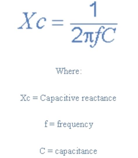 capacitive reactance formula pdf 28 images resonance in series rlc circuit lekule