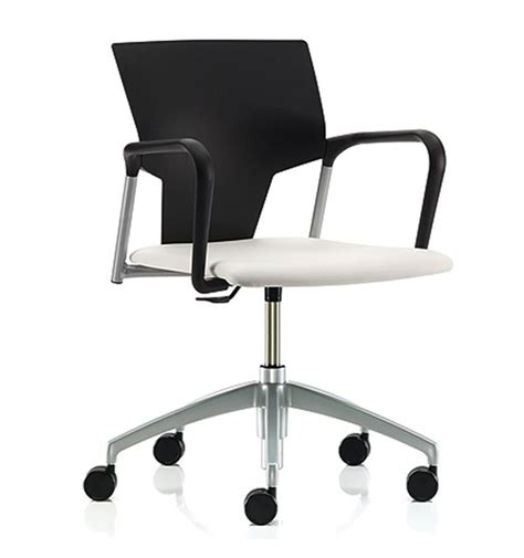 Pledge Ikon Plastic Swivel Chair Upholstered Seat Office Plastic Swivel Chairs