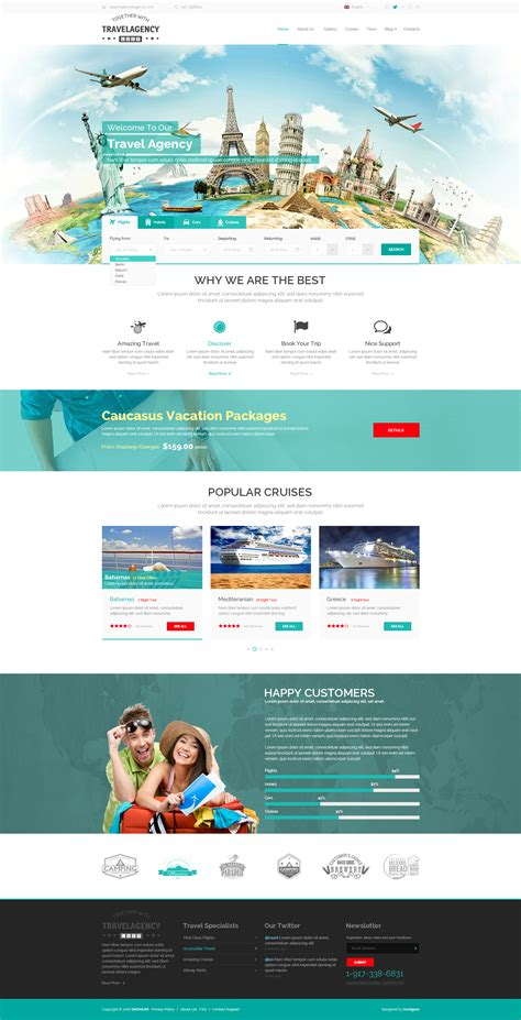 themes bootstrap agency travel agency website template theme gridgum