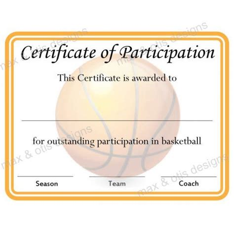 4 best images of printable certificates of participation blank