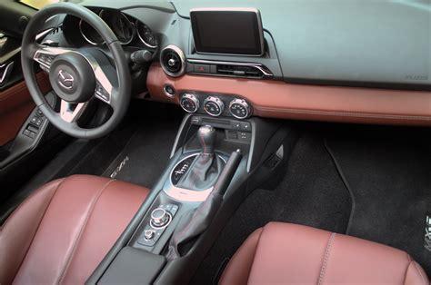 miata upholstery 2017 mazda mx 5 miata rf interior from above motor trend