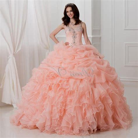 quinceanera dresses light coral Naf Dresses