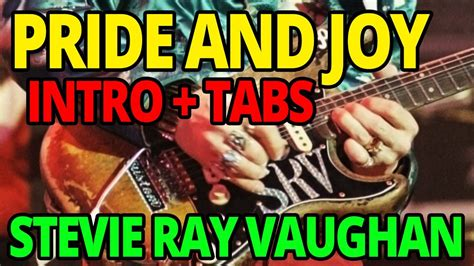 andys lab stevie ray vaughan pride  joy guitar lesson youtube