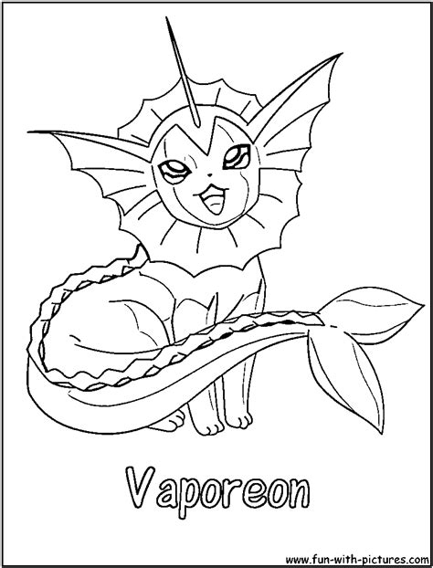 pokemon vaporeon coloring pages coloring book pikachu vaporeon coloring pages
