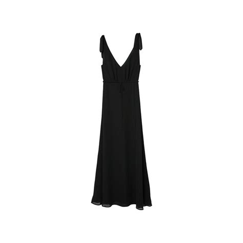 Polka Nori Dress mango black nori v neck knee length dress
