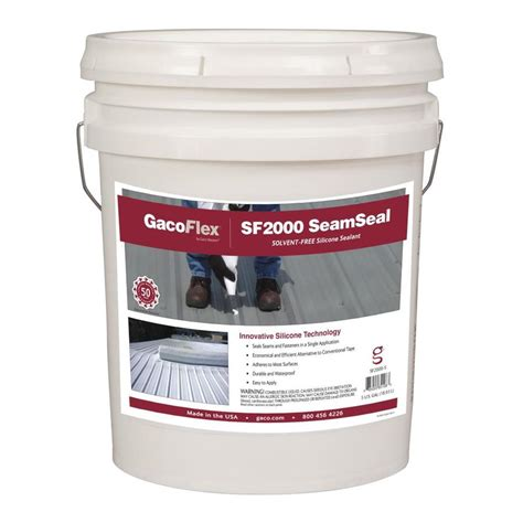 shop gaco seamseal 5 gallon silicone reflective roof