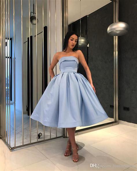light blue short evening prom dresses  girls