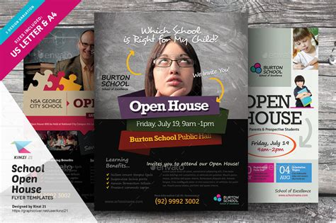school open house flyer school open house flyers by kinzi21 graphicriver