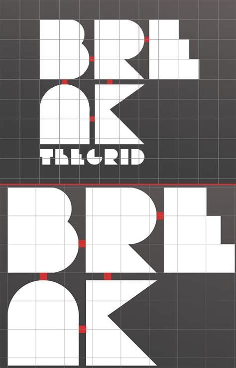 design poster grid create and then shatter a grid while making a typographic